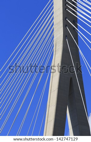 Abstract Cable stayed bridge in Dubrovnik