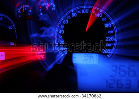Abstract car console - stock photo