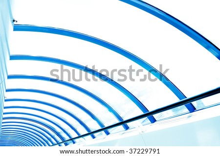 abstract ceiling in airport - stock photo