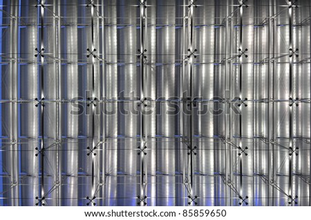 Abstract ceiling light background - stock photo
