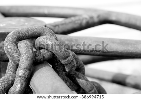 Abstract chain background black and white color