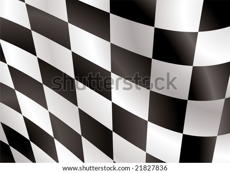 Abstract checkered flag flapping in the wind ideal background