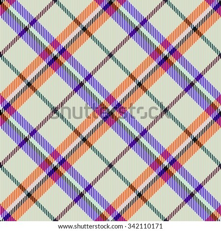 Abstract checkered modern seamless diagonally pattern with fabric texture - digitally rendered design - stock photo