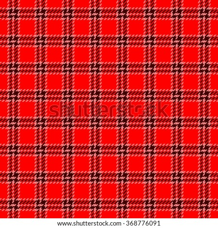 Abstract checkered seamless red white regular digitally rendered pattern with fabric texture - stock photo