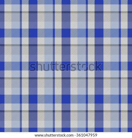 Abstract checkered seamless regular digitally rendered pattern with fabric texture - stock photo