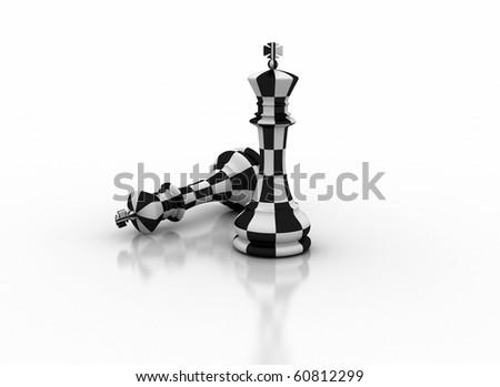 Abstract chess illustration - stock photo
