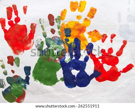 Abstract Child Art - stock photo