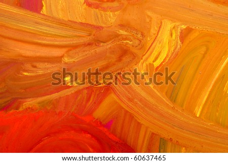 Abstract children's drawing water color paints - stock photo