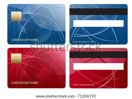 Abstract chip credit card - stock photo