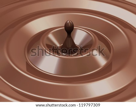 Abstract Chocolate Background - stock photo