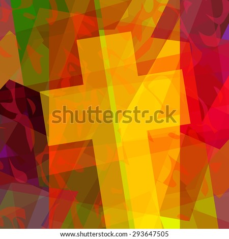 Abstract christian cross background - stock photo