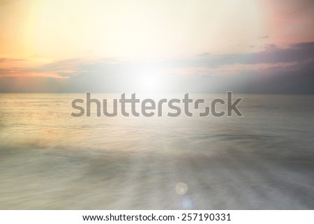 abstract christian nature sea filters background with blank space for Your text or image - stock photo