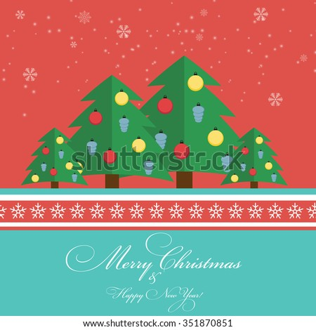 Abstract Christmas and New Year Background. Illustration