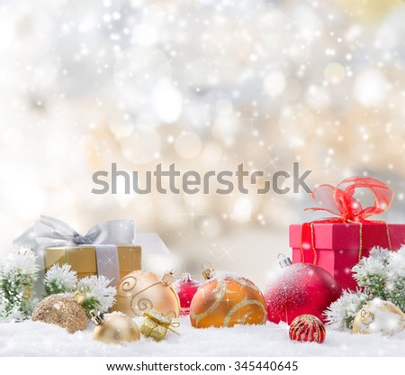 Abstract Christmas background  - stock photo