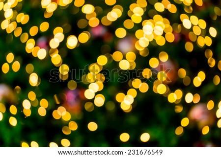 Abstract Christmas background bokeh light decor - stock photo