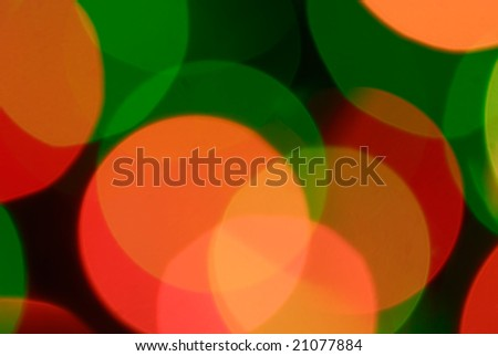 Abstract Christmas background - colour lights