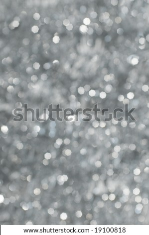 Abstract Christmas background, defocused lights with highlights (no filters, defocusing done in camera) - stock photo