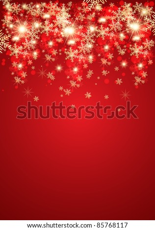 Abstract christmas background. Illustration - stock photo