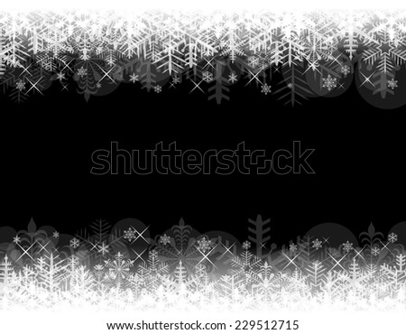 Abstract Christmas background with black copy space. - stock photo