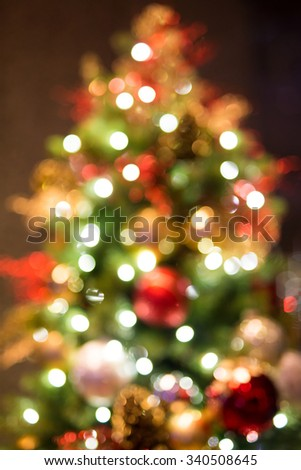 Abstract Christmas background with bokeh light