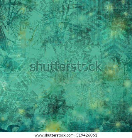 Abstract Christmas background with snowflakes.