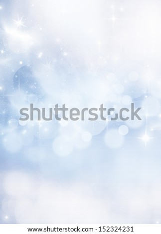 abstract Christmas background with white snowflakes - stock photo