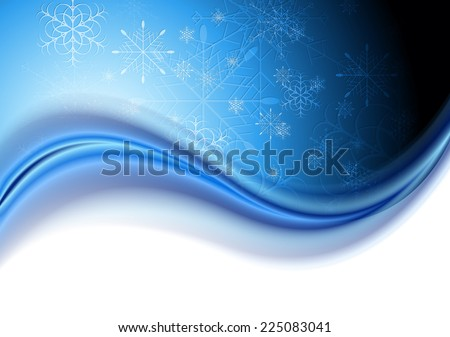 Abstract Christmas blue background - stock photo