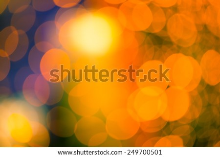 Abstract Christmas Bokeh background - stock photo