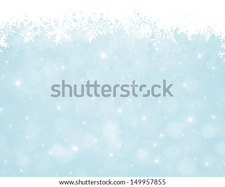 Abstract christmas bokeh background with snowflakes - stock photo