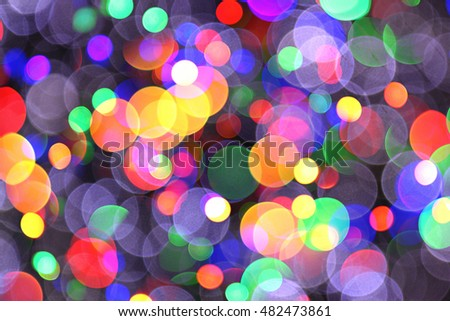 abstract christmas color lights texture as holiday background