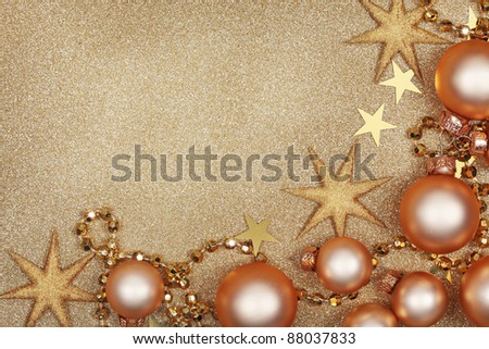 Abstract christmas golden background with baubles