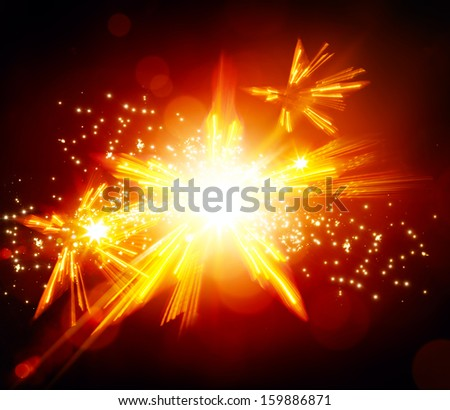 abstract Christmas light  background - stock photo