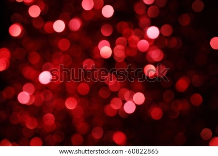 Abstract christmas lights as background - stock photo