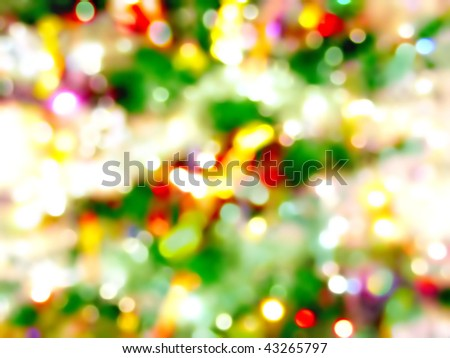 abstract christmas lights background - stock photo