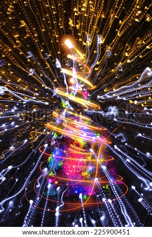 abstract christmas lights explosion as nice background