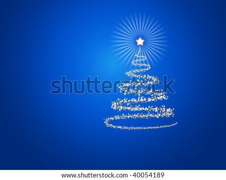 Abstract Christmas New Year background - stock photo