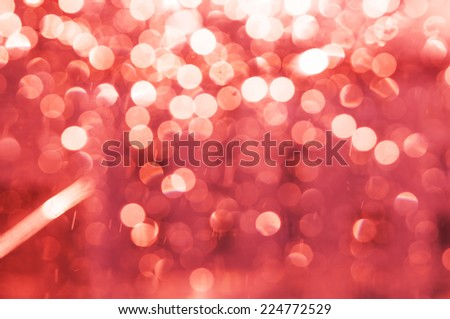 Abstract christmas pink lights as background - stock photo