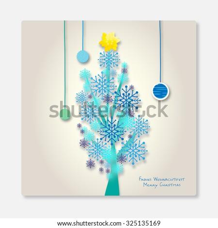 abstract christmas tree - stock photo