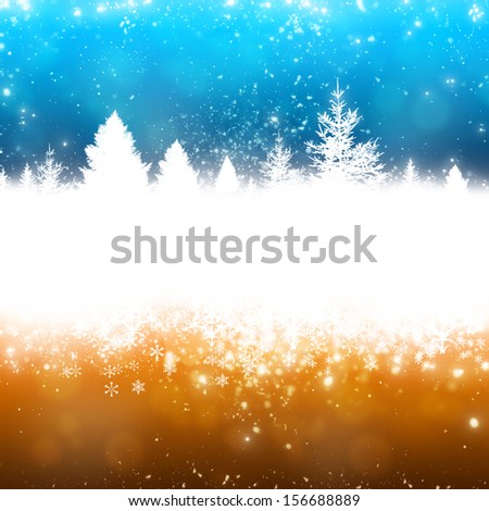 abstract christmas trees background for christmas greeting cards - stock photo