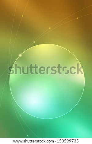 Abstract circle background - yellow and green color