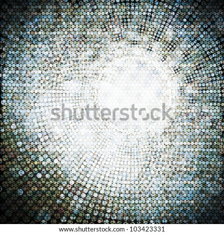 Abstract circle shape mosaic pattern - stock photo