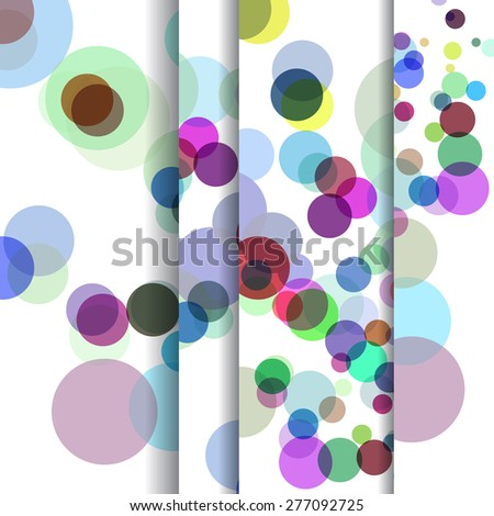 Abstract circles illustration, colorful digital composition. - stock photo