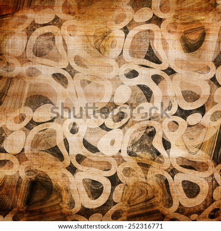 abstract circles on grunge background - stock photo