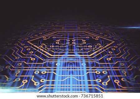 Abstract Circuit Board Background Software Concept Stock ...