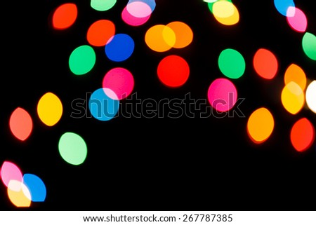 Abstract circular bokeh background