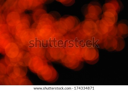 Abstract Circular Bokeh Background From Mix Yellow Red Light Tree