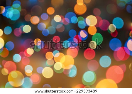Abstract circular bokeh background of Christmas lights  - stock photo