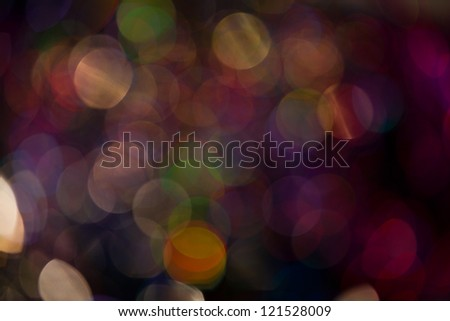 Abstract circular bokeh background of Christmastime - stock photo