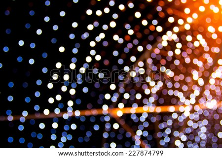 Abstract circular bokeh background of city street night  light - stock photo