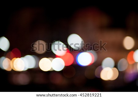 Abstract circular bokeh color background - stock photo